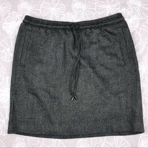 Kenneth Cole Gray Wool Blend Skirt with pockets